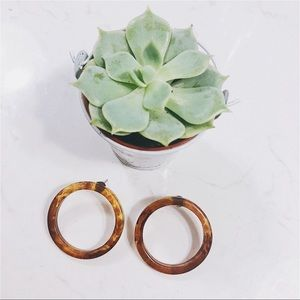 Jewelry - 🆙 Acrylic Tortoise Hoop Earring